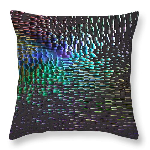 Abstract Throw Pillow featuring the digital art Reflections by Jean-Marc Lacombe