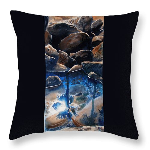 Seascape Throw Pillow featuring the painting Reflections by Ken Meyer