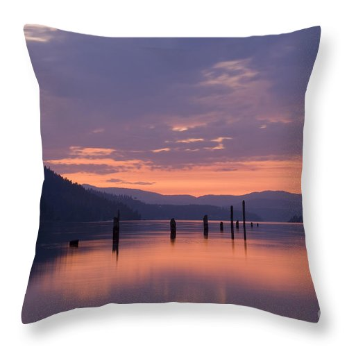 Reflection Throw Pillow featuring the photograph Reflections Of Pink by Idaho Scenic Images Linda Lantzy