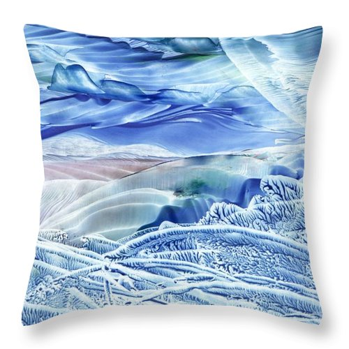 Wax Throw Pillow featuring the painting Reflections Of The Moon by Shelley Jones