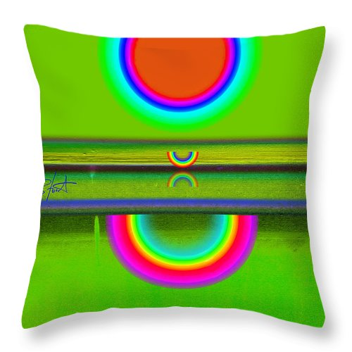Reflections Throw Pillow featuring the painting Reflections On Green by Charles Stuart