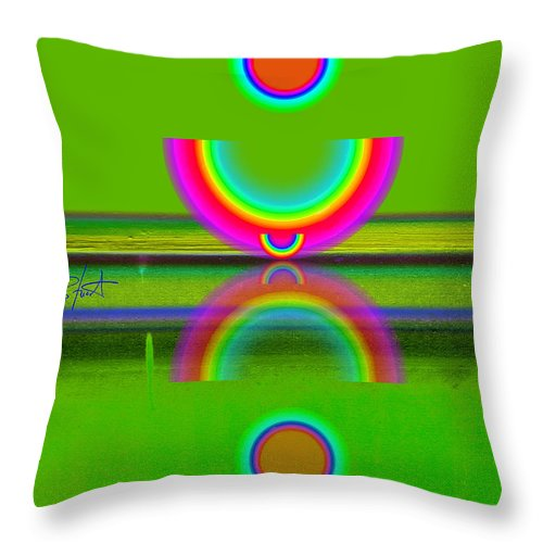 Reflections Throw Pillow featuring the painting Reflections On Lime by Charles Stuart