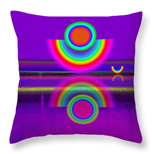 Reflections Throw Pillow featuring the painting Reflections On Mauve by Charles Stuart