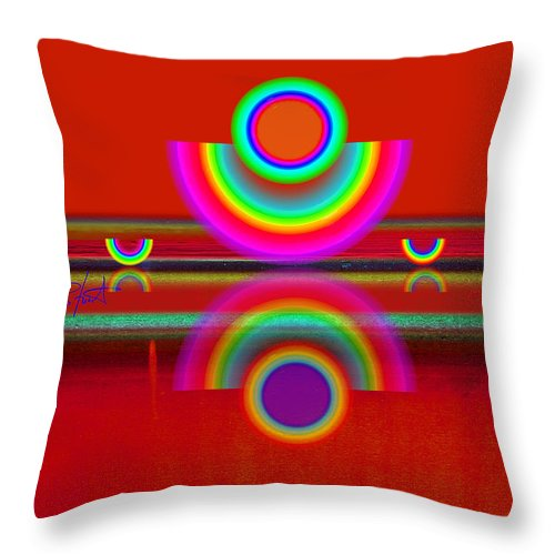 Reflections Throw Pillow featuring the painting Reflections On Red by Charles Stuart