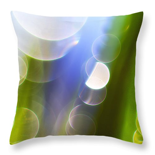 Grass Throw Pillow featuring the photograph Reflections by Silke Magino