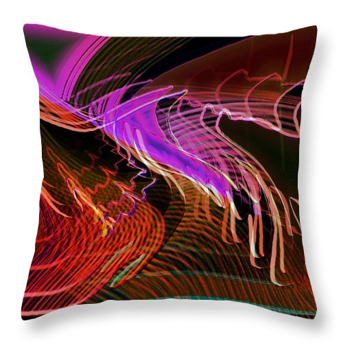 Drawing Throw Pillow featuring the digital art Reflexions Red by Helmut Rottler