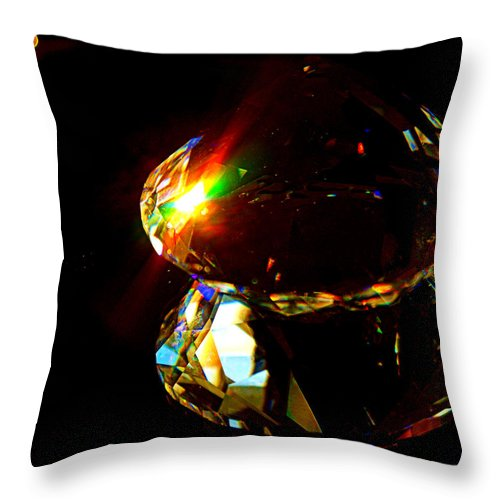 Crystal Throw Pillow featuring the photograph Refraction Reflection by Cricket Hackmann