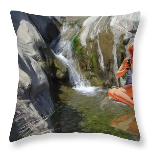 Deserts Throw Pillow featuring the digital art Refreshments by Snake Jagger