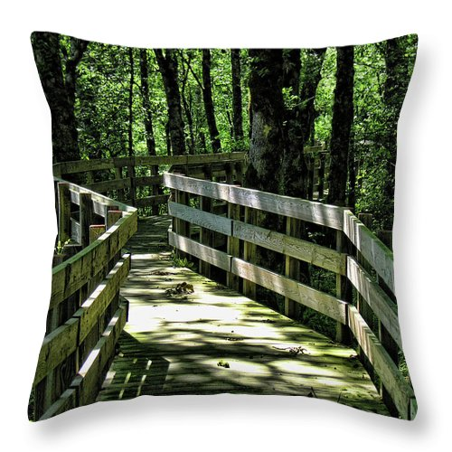 Wildlife Refuge Throw Pillow featuring the photograph Refuge by Bonnie Bruno