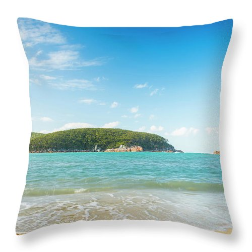 Refuge Cove Throw Pillow featuring the photograph Refuge Cove Wilsons Promontory by Tim Hester