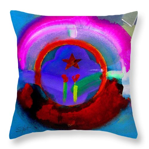 Love Throw Pillow featuring the painting Regeneration by Charles Stuart