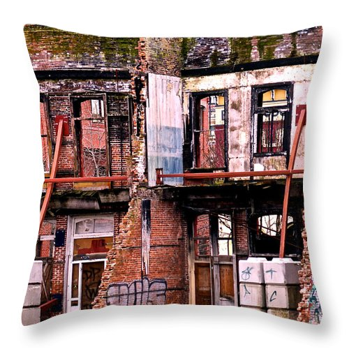 Urban Throw Pillow featuring the photograph Regentrification by Peter Jamieson