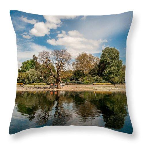 Throw Pillow featuring the photograph Regents Park by Paul Burgoine