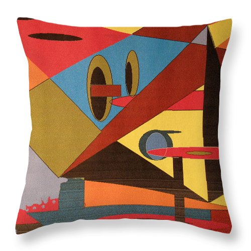 Abstract Throw Pillow featuring the digital art Regret by Ian MacDonald
