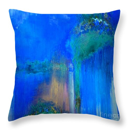 Regret Time Throw Pillow featuring the painting Regret Time by Dragica Micki Fortuna