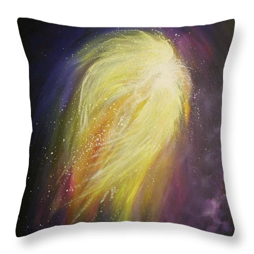 Angel Throw Pillow featuring the painting Rejuvenation by Naomi Walker