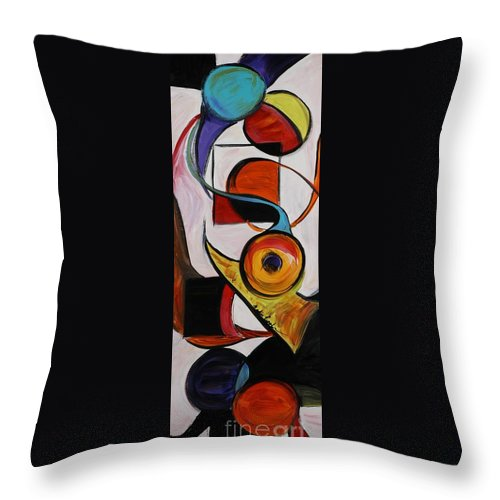 Shapes Throw Pillow featuring the painting Relationships by Nadine Rippelmeyer
