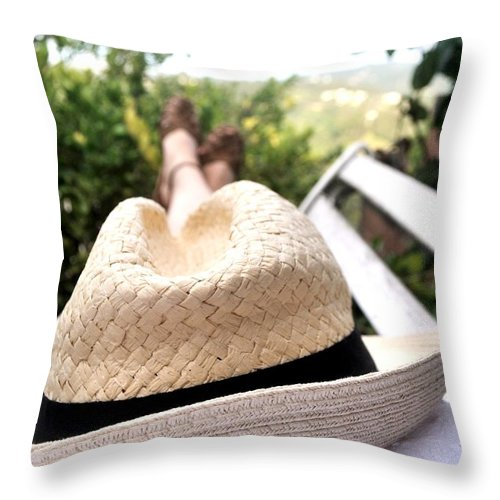 Relax Throw Pillow featuring the photograph Relax by Bayri GONZALEZ