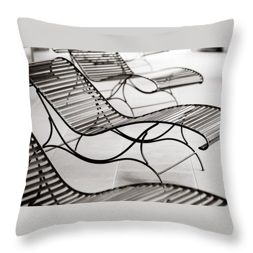 Chair Throw Pillow featuring the photograph Relaxation by Marilyn Hunt