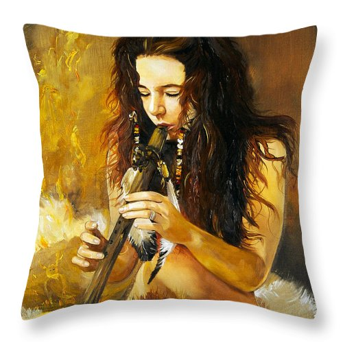 Woman Throw Pillow featuring the painting Release by J W Baker