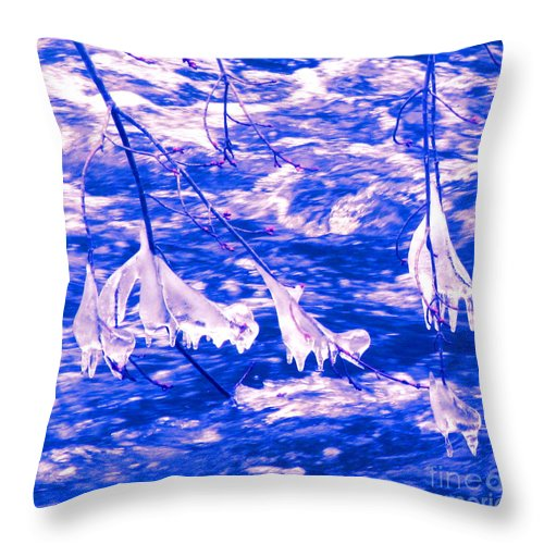 Water Throw Pillow featuring the photograph Ice Bats by Sybil Staples