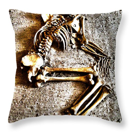 Remains Throw Pillow featuring the photograph Remains ... by Juergen Weiss