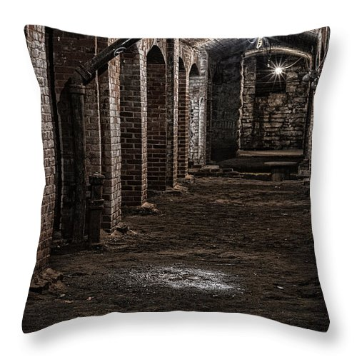 2015 Throw Pillow featuring the photograph Remains by Kristi Swift