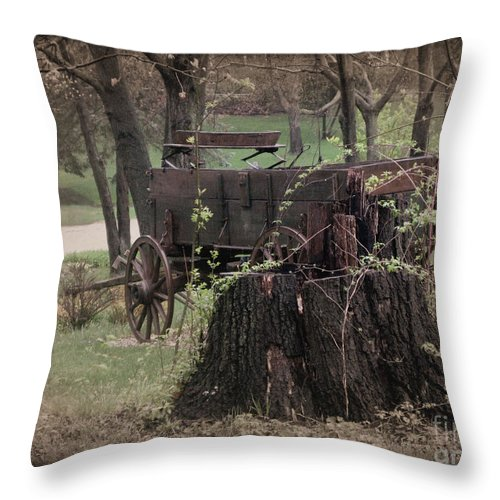 Wagon Throw Pillow featuring the photograph Remember When 2 by September Stone