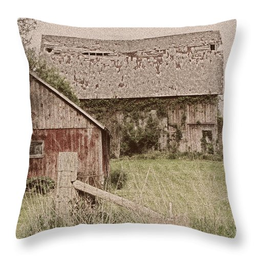 Old Throw Pillow featuring the photograph Remember When by September Stone