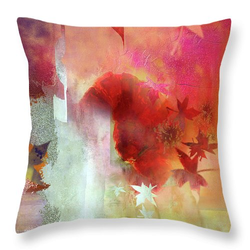 Throw Pillow featuring the digital art Rememberance by Davina Nicholas