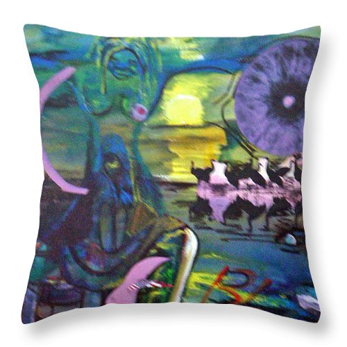 Water Throw Pillow featuring the painting Remembering 9-11 by Peggy Blood