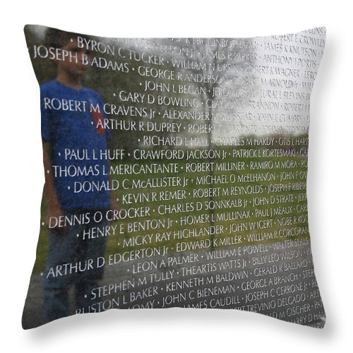 Memorial Throw Pillow featuring the photograph Remembering by Mary Haber