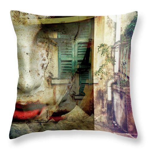 Italy Throw Pillow featuring the photograph Remembering The Time At Italy by Gabi Hampe