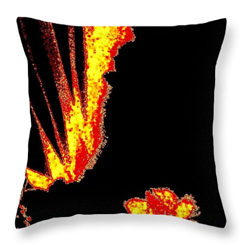 Abstract Throw Pillow featuring the digital art Reminiscence by Will Borden