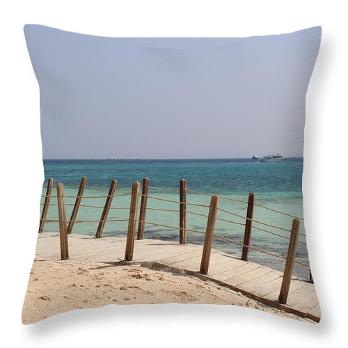 Landscape Throw Pillow featuring the photograph Remote Island by Dave Lees