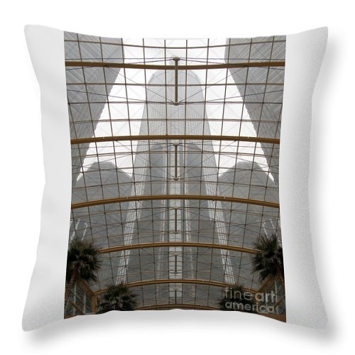 Detroit Throw Pillow featuring the photograph Rencen From Within by Ann Horn
