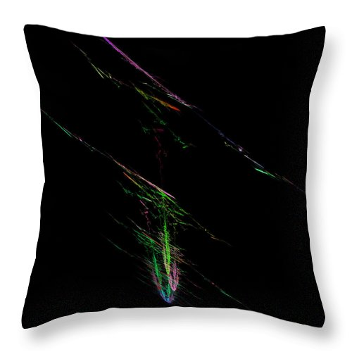 Abstract Throw Pillow featuring the digital art Rendentive by Andrew Kotlinski