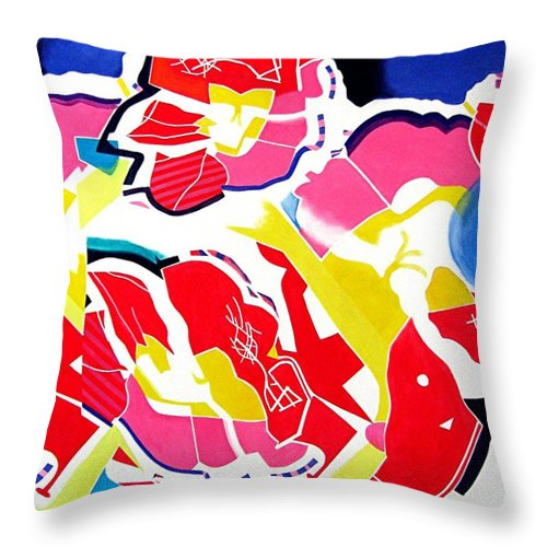 Throw Pillow featuring the painting Renewal by Barron Holland