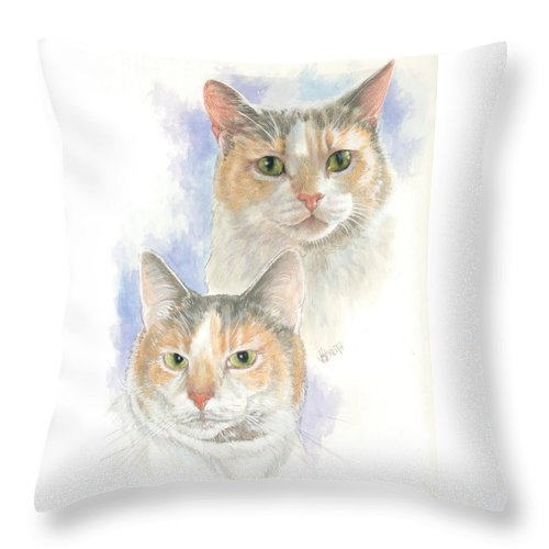 Domestic Throw Pillow featuring the mixed media Reno by Barbara Keith