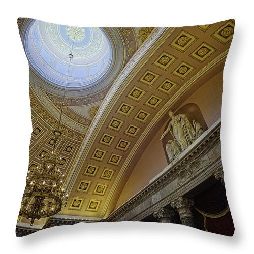 Architecture Throw Pillow featuring the photograph Representative Democracy by Lucinda Walter