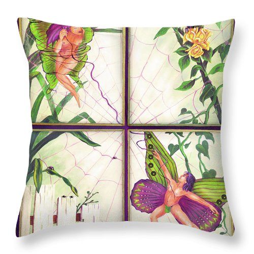 Rescue Throw Pillow featuring the painting Rescue Me by Bobby Jones