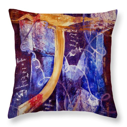 Abstract Throw Pillow featuring the painting Restore To Me by Ruth Palmer