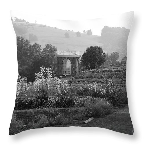 Black And White Throw Pillow featuring the photograph Retreat by Eric Liller