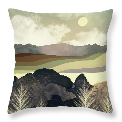 Retro Throw Pillow featuring the photograph Retro Afternoon by Spacefrog Designs