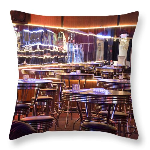 Club Throw Pillow featuring the photograph Retro by Jessica Wakefield