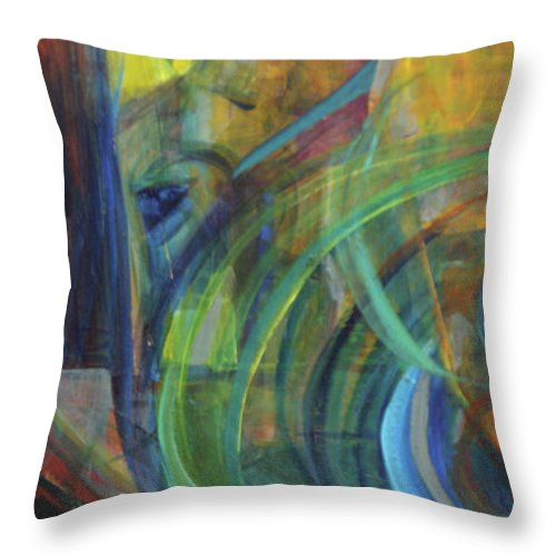 Oil Painting Throw Pillow featuring the painting Return by Daun Soden-Greene
