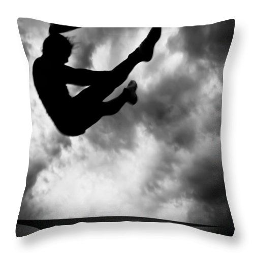 Adventure Throw Pillow featuring the photograph Returning To Earth by Bob Orsillo