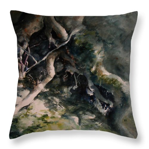 Nature Throw Pillow featuring the painting Revealed by Rachel Christine Nowicki