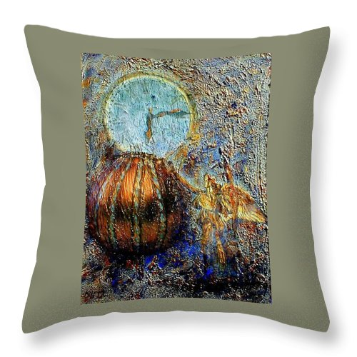 Christian Throw Pillow featuring the mixed media Revelation by Gail Kirtz