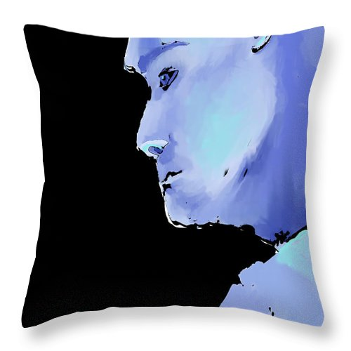 Male Throw Pillow featuring the digital art Reverse Out by Arline Wagner